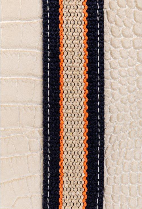 Geanta din piele naturala taupe cu maner textil
