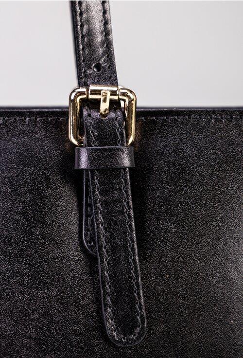 Geanta eleganta neagra din piele naturala