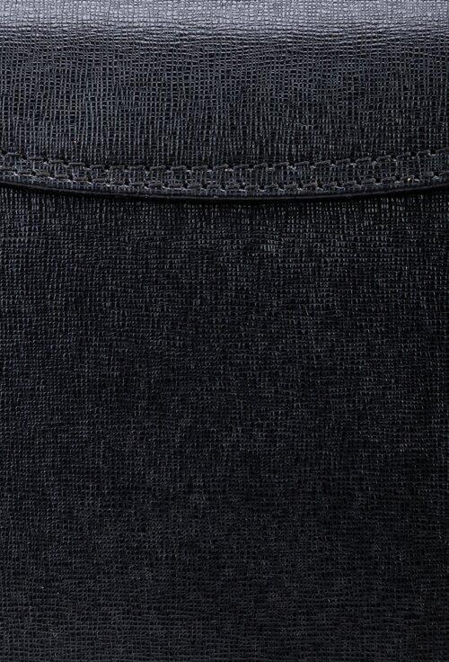 Geanta eleganta neagra din piele naturala cu maner