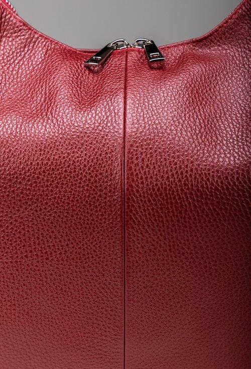Geanta grena din piele naturala de mari dimensiuni