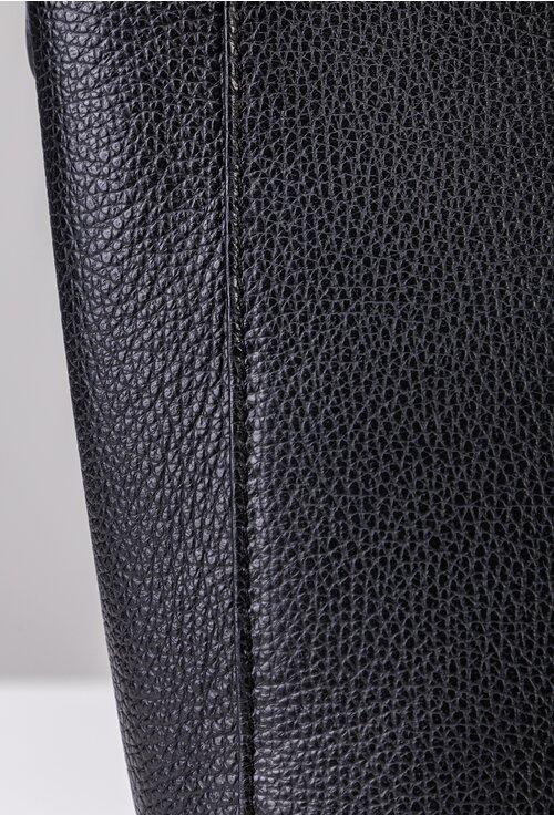 Geanta neagra din piele naturala