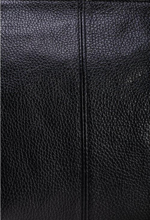 Geanta neagra din piele naturala cu bareta