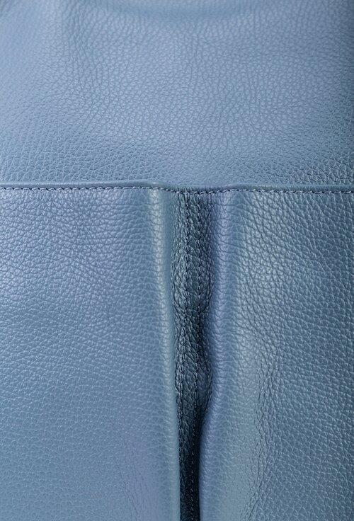 Geanta nuanta bleu din piele naturala