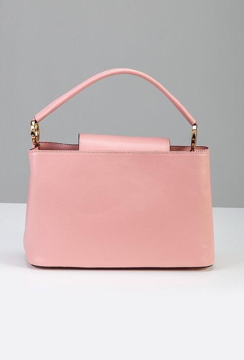 Geanta roz din piele naturala