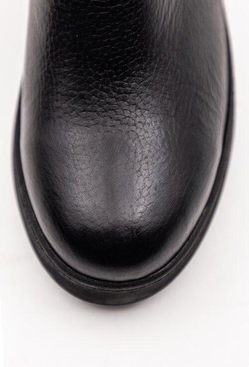 Ghete negre din piele naturala cu talpa ortopedica