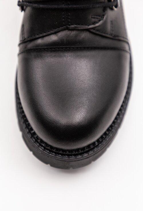 Ghete nuanta negru din piele naturala box