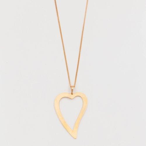 Lantisor auriu cu pandantiv inima