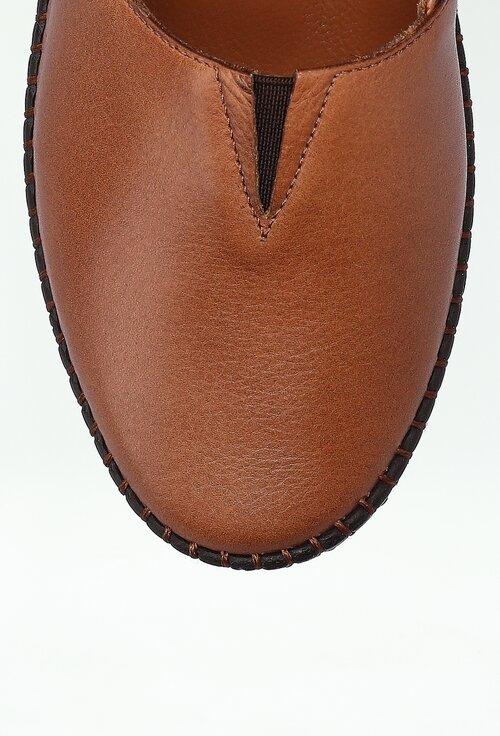 Mocasini maro din piele naturala cu talpic buretat