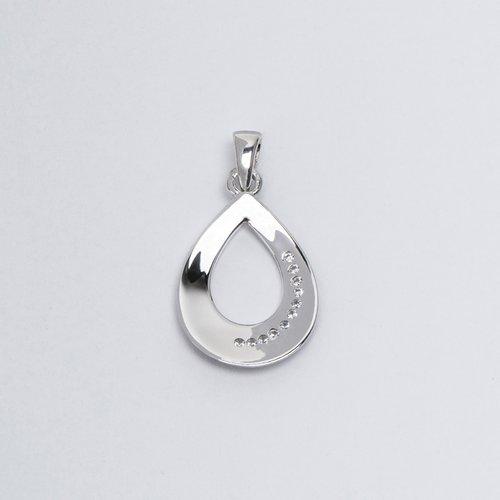 Pandantiv din argint cu pietre de zirconiu albe 36998