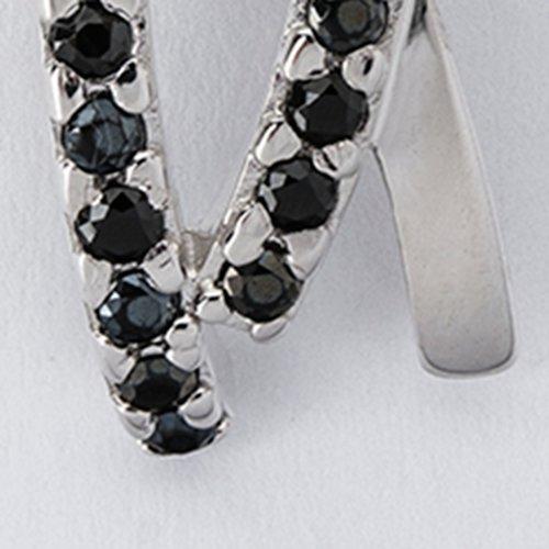 Pandantiv din argint cu pietre de zirconiu negre 37014