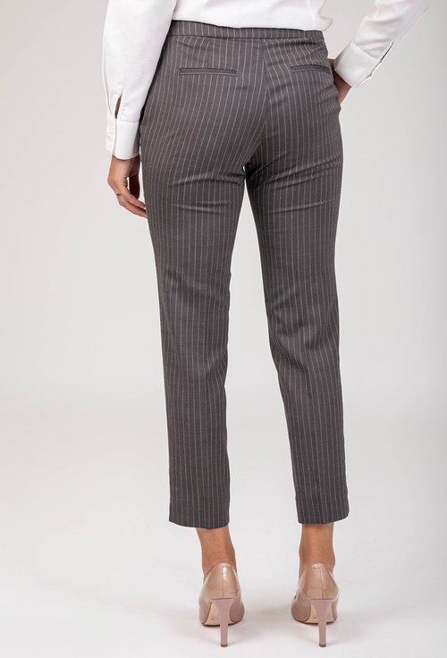 Pantaloni office gri cu dungi verticale Tom
