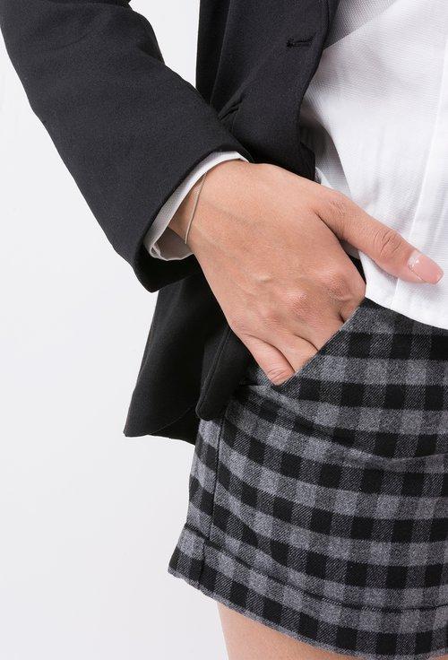 Pantaloni scurti cu model in carouri Queenie