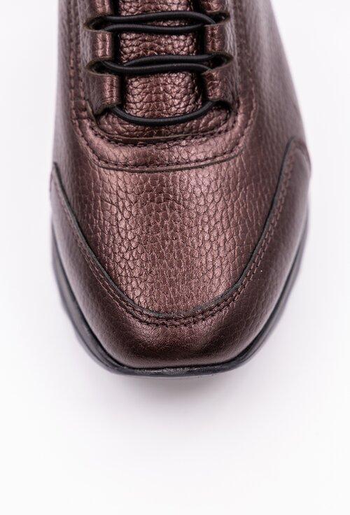 Pantofi bordo inchis din piele naturala