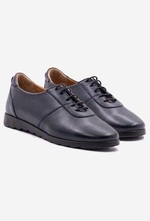 Pantofi casual bleumarin din piele