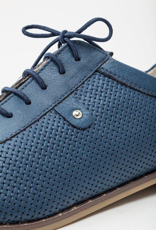 Pantofi casual bleumarin din piele naturala Ignacia