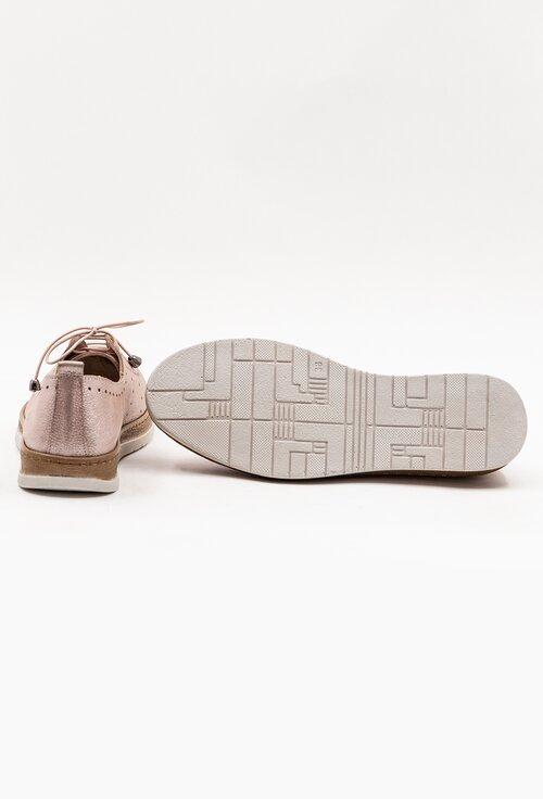 Pantofi casual din piele naturala bej-roze sidefat