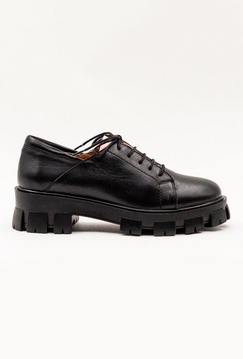 Pantofi casual din piele naturala nuanta negru