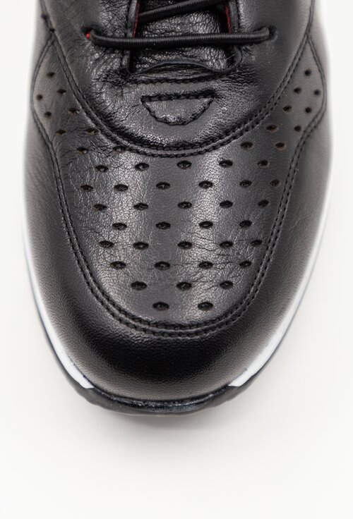 Pantofi casual negri din piele naturala cu talpa ortopedica