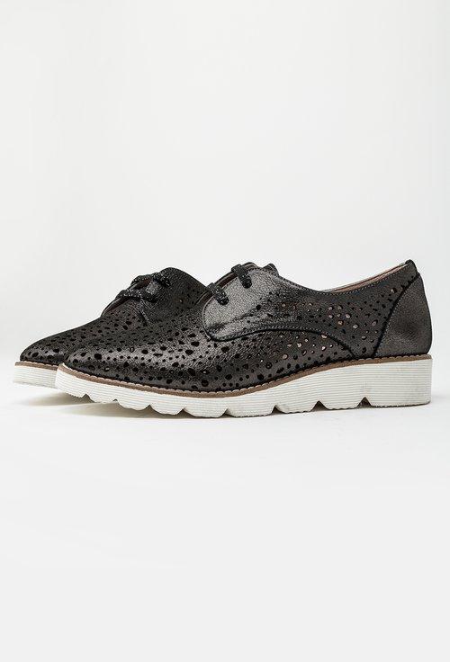 Pantofi casual negri din piele naturala Samara