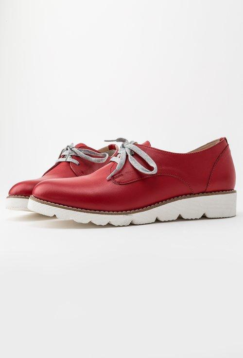 Pantofi casual rosii din piele naturala Rosana