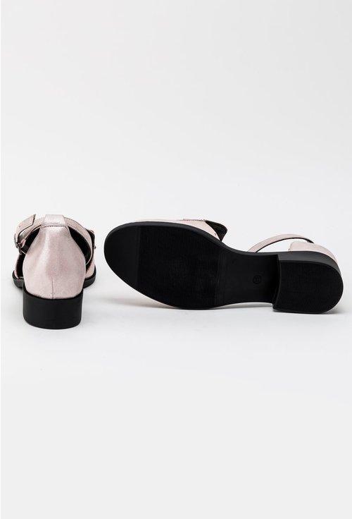Pantofi casual roz pal din piele naturala Izara