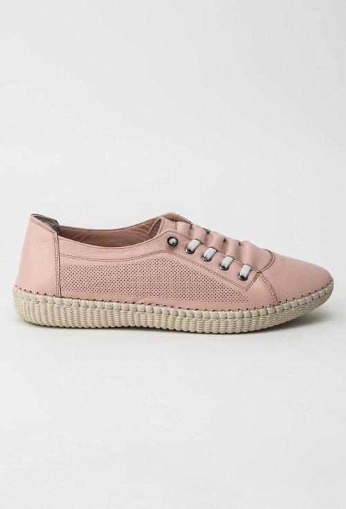 Pantofi casual roz pal din piele naturala Patricia