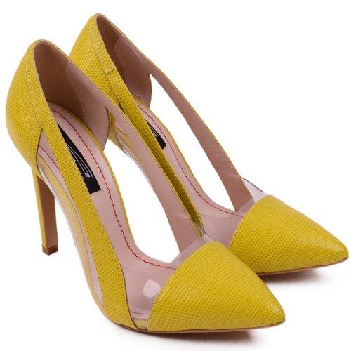Pantofi din piele naturala Lemon
