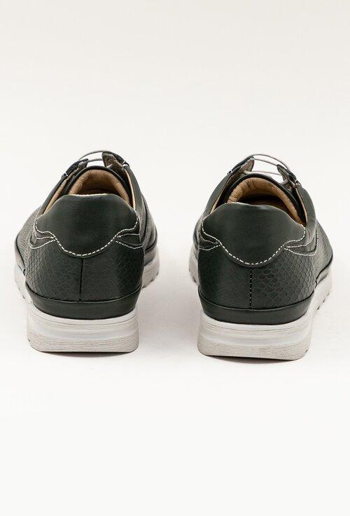 Pantofi din piele naturala nuanta kaki