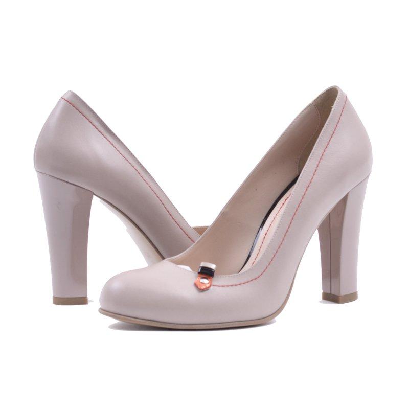 Pantofi din Piele Naturala Nude, preturi, ieftine