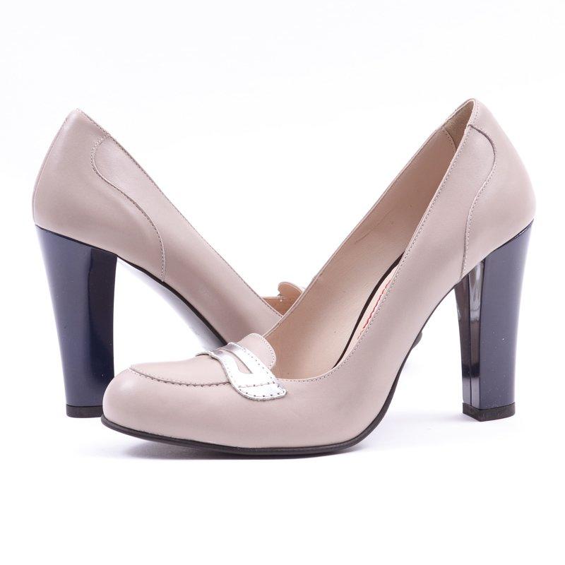 Pantofi din Piele Naturala Silver, preturi, ieftine