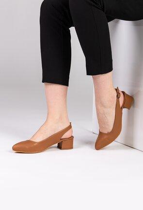 Pantofi office maro din piele