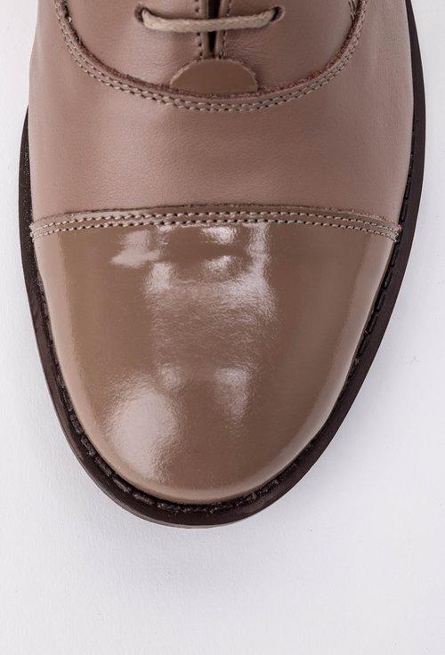 Pantofi Oxford grej din piele naturala Madison