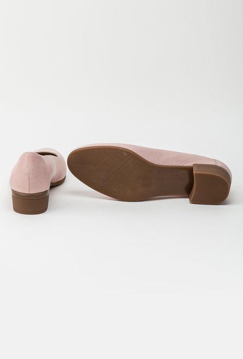 Pantofi roz pal din piele naturala Azaleya