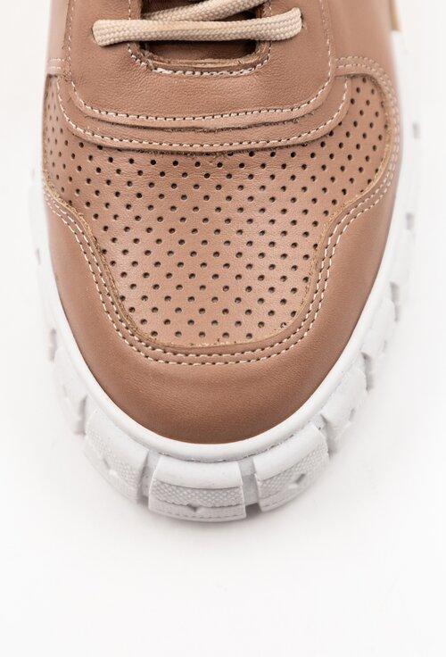 Pantofi sport bej din piele