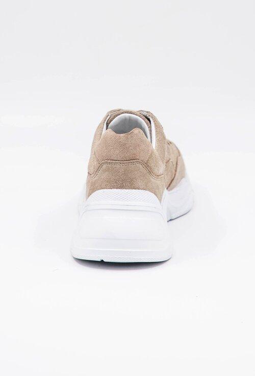 Pantofi sport bej din piele intoarsa