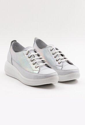 Pantofi sport cu reflexii din piele naturala