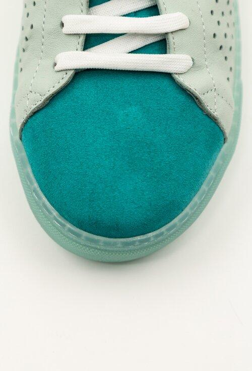 Pantofi sport din piele intoarsa nuanta turcoaz