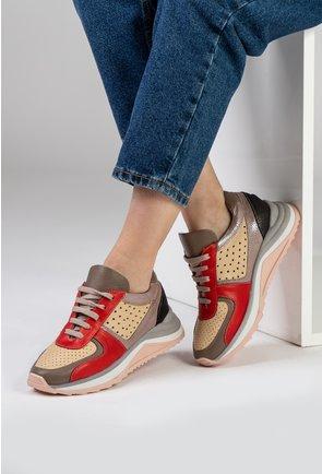 Pantofi sport din piele naturala in diferite nuante