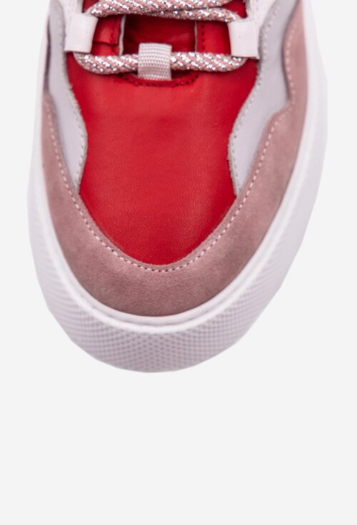 Pantofi sport din piele naturala intoarsa si box