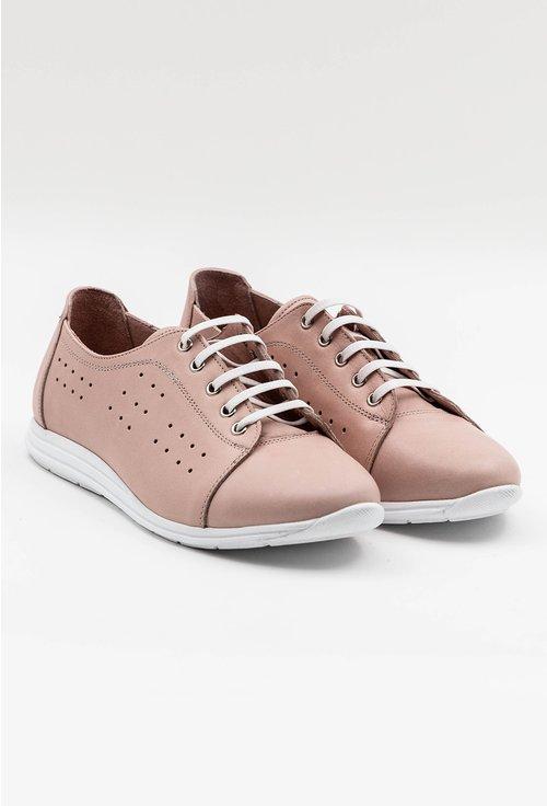 Pantofi sport din piele nuanta nude roze