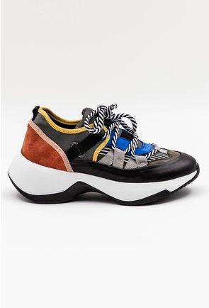 Pantofi sport in nuante de albastru si negru