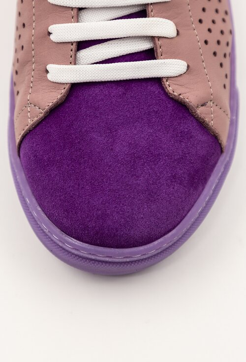 Pantofi sport mov din piele naturala