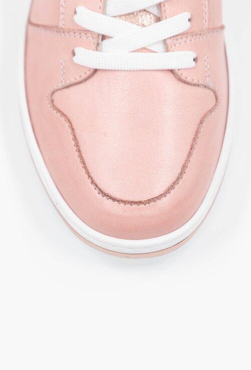 Pantofi sport roz pal din piele