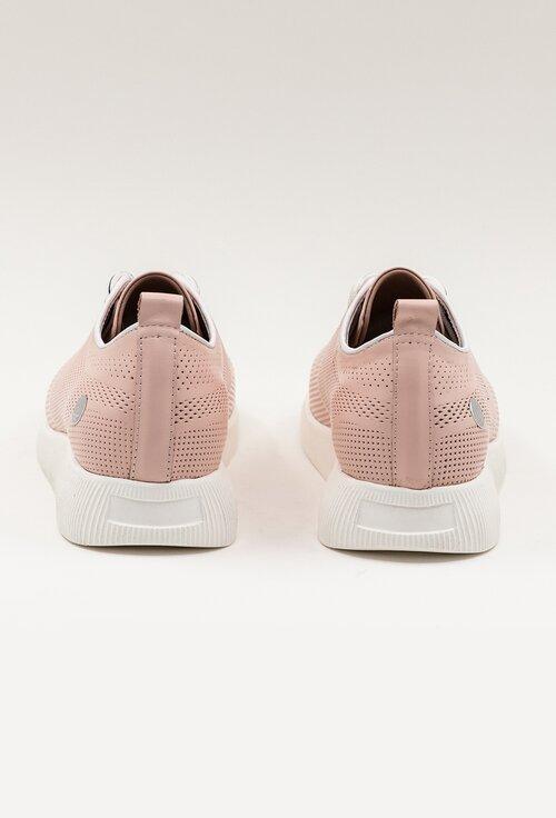 Pantofi sport roz pal din piele naturala perforata