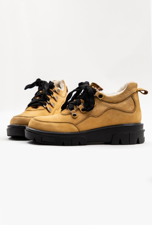 Pantofi tip ghete din piele naturala cu interior imblanit