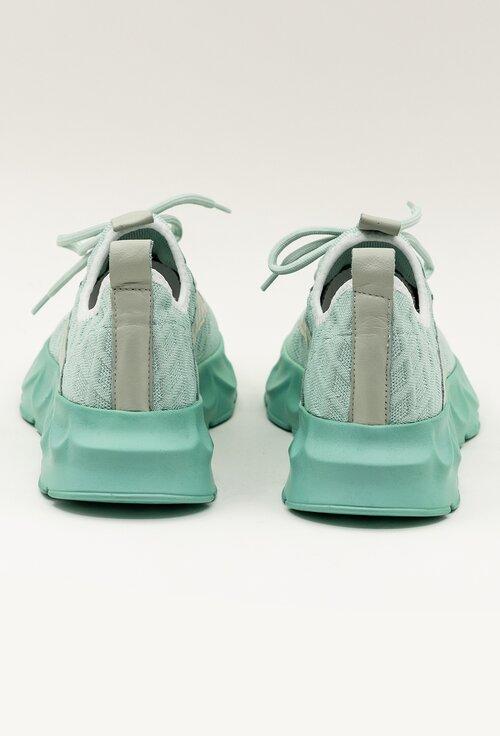 Pantofi turcoaz din material textil
