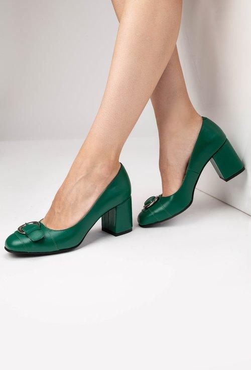 Pantofi verzi din piele naturala Adele