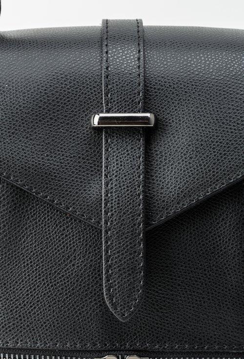 Poseta neagra din piele naturala Mary Jane