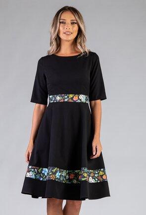 Rochie ampla neagra cu buzunare
