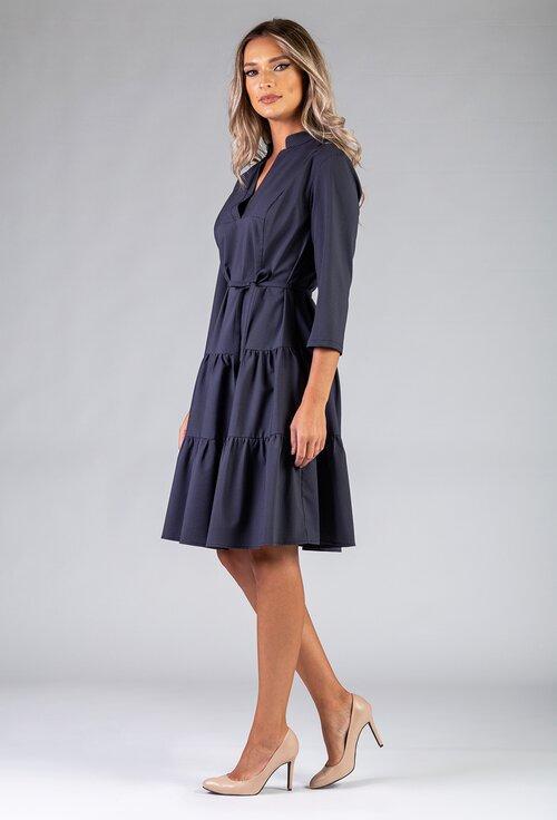 Rochie ampla nuanta gri inchis